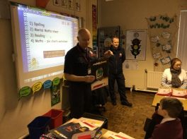 Visit from the fire brigade in P5